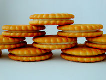 Delicious cookies for breakfast. Tasty appetite creative Royalty Free Stock Photography