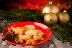 Delicious cookies with cjristmas decoration Stock Photo
