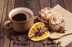 Delicious cookies and coffee Stock Photo