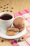 Delicious cookies and coffee Stock Photography