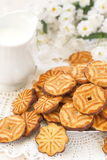 Delicious cookies and milk Royalty Free Stock Image