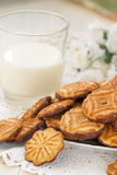 Delicious cookies and milk Royalty Free Stock Photos