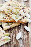Delicious cookies with seeds Royalty Free Stock Photo