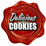 Delicious cookies sign Royalty Free Stock Image
