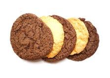 Delicious cookies on a white background. Fresh cookies on colored background. Bakery Royalty Free Stock Photos