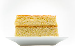 Delicious corn bread. Front view of a stack of cornbread Stock Images