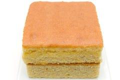 Delicious corn bread. Top view of a stack of cornbread Stock Image