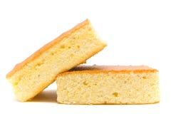 Delicious corn bread. Front view of a stack of cornbread Stock Photo