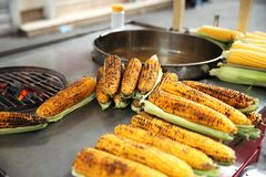 Delicious Corn in Istanbul royalty free stock image