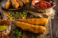 Delicious corndog Stock Images