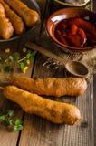 Delicious corndog Stock Photography