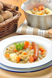 Delicious country style soup Stock Photos