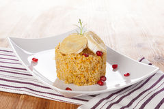 Delicious couscous. Royalty Free Stock Photography