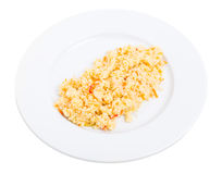 Delicious couscous porridge with tomatoes. Royalty Free Stock Photos