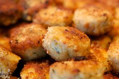 Delicious crab cake appetizers Royalty Free Stock Photos