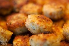 Delicious crab cake appetizers Stock Photography