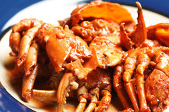 Delicious crabs Stock Images