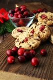 Delicious cranberry cookies for xmas with fresh cranberries. Delicious cranberry cookies for xmas with fresh cranberries Stock Images