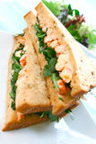 Delicious crayfish sandwich Royalty Free Stock Image