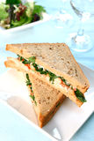 Delicious crayfish sandwich Royalty Free Stock Photography