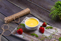 Delicious cream brulee. Stock Photography