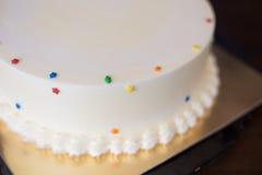 Delicious cream cake. Close up of delicious cream cake Stock Images