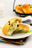 Cream cheese buns royalty free stock photography
