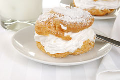 Delicious cream puff Stock Photography