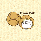 Delicious cream puff Royalty Free Stock Photo