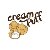 Delicious cream puff Royalty Free Stock Images