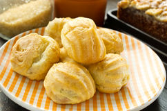 Delicious cream puffs Royalty Free Stock Images