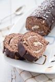 Delicious cream roll cake Royalty Free Stock Photos