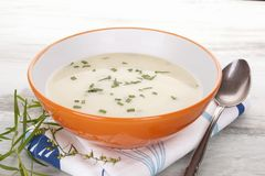 Delicious cream soup. Royalty Free Stock Image