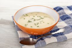 Delicious cream soup. Royalty Free Stock Photo