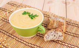 Delicious cream soup Stock Photo