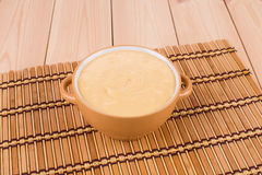 Delicious cream soup Stock Images