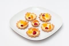 Delicious cream tart. Berry, orange and apricot delicious cream tart Stock Photo