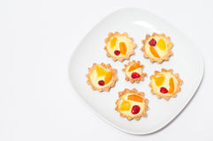 Delicious cream tart Royalty Free Stock Image