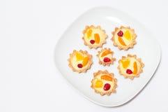 Delicious cream tart. Berry, orange and apricot delicious cream tart Royalty Free Stock Image