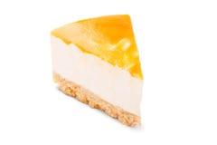 Delicious creamy cake with orange jam Stock Images