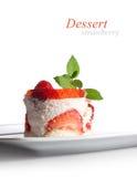 Delicious creamy dessert Stock Image