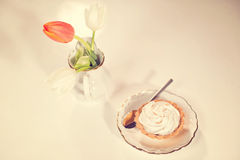 Delicious creamy tart Royalty Free Stock Photography