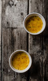 Delicious Creme brulee Stock Image