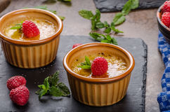 Delicious creme brulee Stock Photography