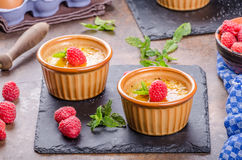 Delicious creme brulee Royalty Free Stock Photos