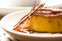 Delicious creme caramel dessert Royalty Free Stock Photo