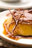 Delicious creme caramel dessert Royalty Free Stock Photos