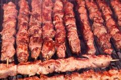 Delicious crispy shashlik Royalty Free Stock Images