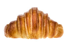 Delicious croissant for breakfast. On a white background. Royalty Free Stock Image