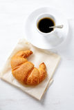 Delicious croissant with coffee Stock Photography